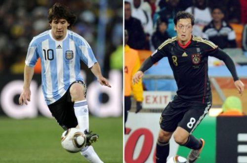 Article : Groupe F-G : L'Allemagne et l'Argentine en tête de liste