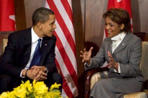 Article : Michaëlle Jean n'a pas pour mission de représenter Haïti