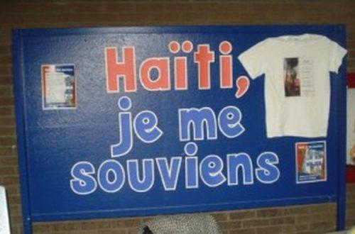 Article : Nous ne sommes pas tous des Haïtiens